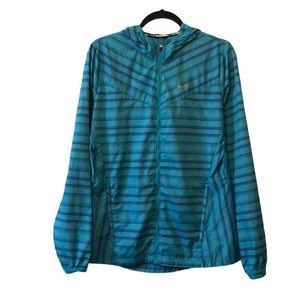 Nike Woman's Blue Running Jacket Hoodie Medium